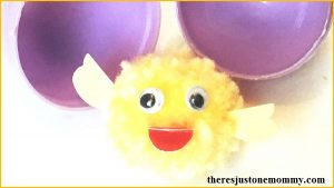 adorable pom pom craft -- make a cute pom pom chick