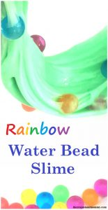 Rainbow Water Bead Slime