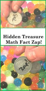 Hidden Treasure Math Fact Zap: rainbow math activity for St. Patrick's Day