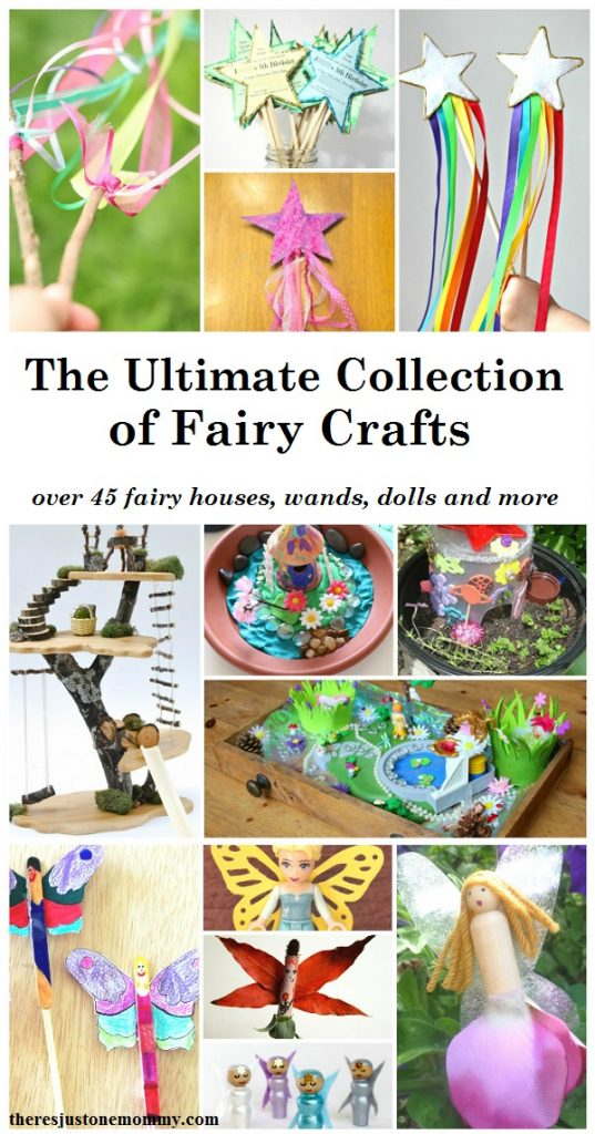 Kids Fairy Crafts-- fairy wand crafts, fairy houses, homemade fairy dolls, fairy lantern crafts and more