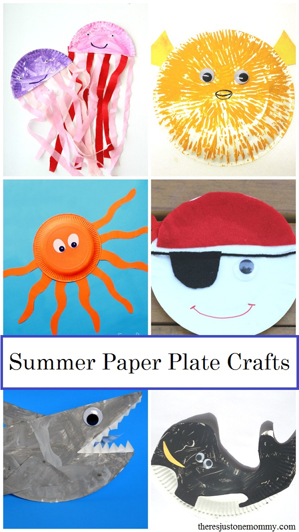summer paper plate crafts for kids -- over 25 fun paper plate crafts for summer