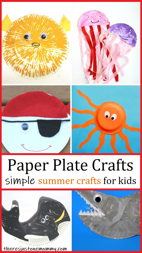 summer paper plate crafts for kids