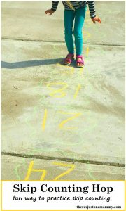 Skip Counting Hop -- fun math activity to practice skip counting and practice multiplication