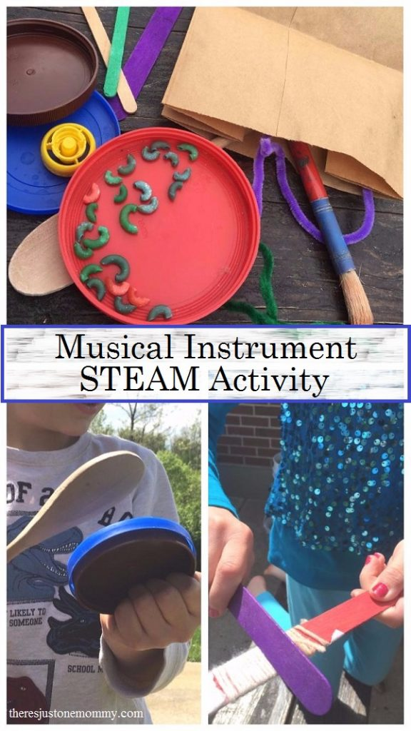 Make your own musical instrument STEM (STEAM) activity for kids