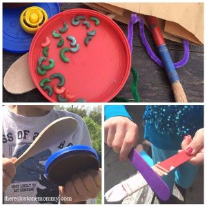 kids DIY musical instrument activity