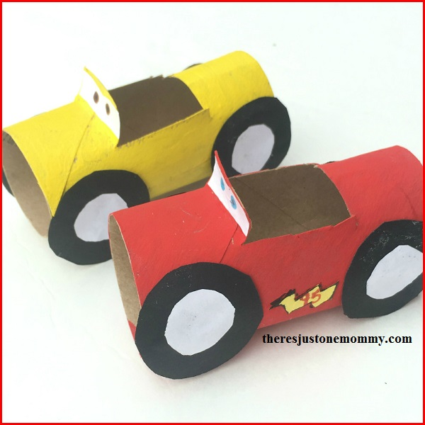 Lightning McQueen craft for kids