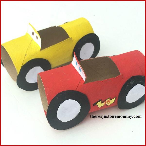 Lightning McQueen craft for kids