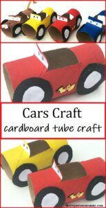 how to make cardboard tube cars