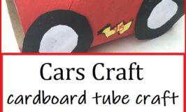 how to make cardboard tube cars