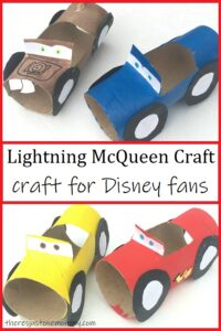 simple cardboard tube craft for Disney Cars movie fans