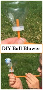 How to make a ping pong ball blower -- simple DIY plastic bottle and straw ball blower to teach kids about the power of air