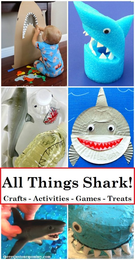 Looking for fun activities for Shark Week? Find over 40 shark crafts and shark activities, including shark games and tasty treats.