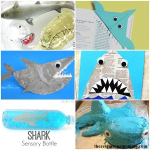 shark crafts and shark activities perfect for Shark Week with the kids