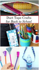 Looking for a fun back to school craft for the kids? These duct tape crafts are perfect for letting them express themselves this school year.