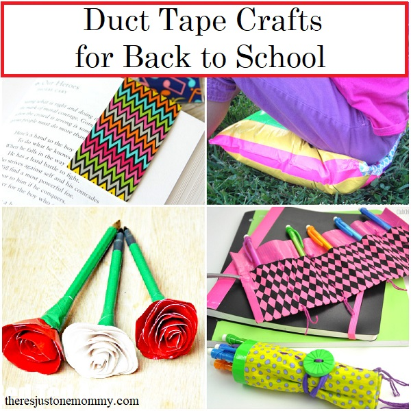 Duct Tape Crafts for Back to School