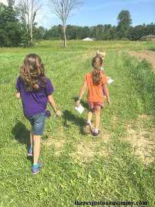 kids survival skills activity: marking a trail