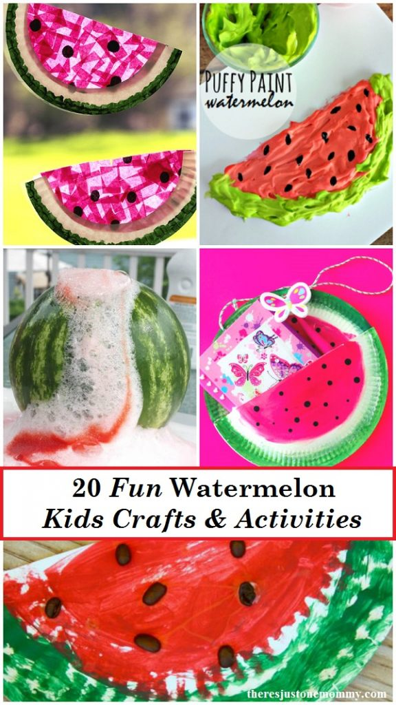 Looking for the perfect kids summer craft? These 20 fun Watermelon Crafts and Watermelon Activities are perfect for summer.