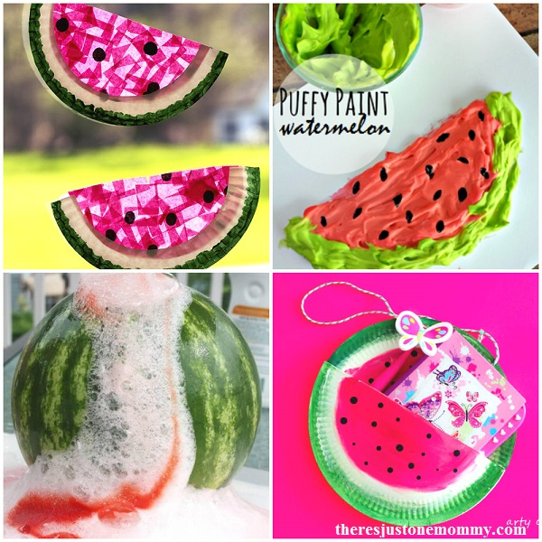 20 fun kids watermelon crafts and watermelon activities
