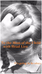 To the Mom of the Child with Head Lice