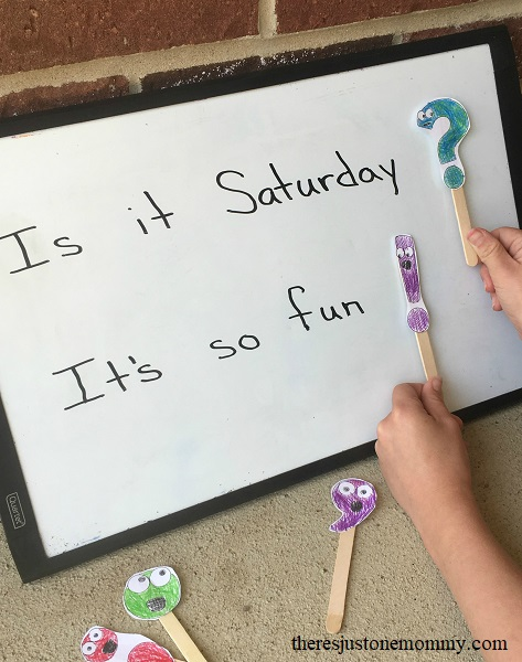 hands-on activity to teach punctuation