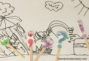 stick puppets -- free printable punctuation mark stick puppets, #handsonlearning
