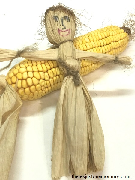 making a corn husk doll