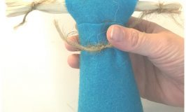 How to Make a Corn Husk Doll -- simple Colonial America craft for kids