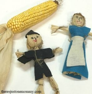 how to make a doll from corn husks -- simple fall craft for kids