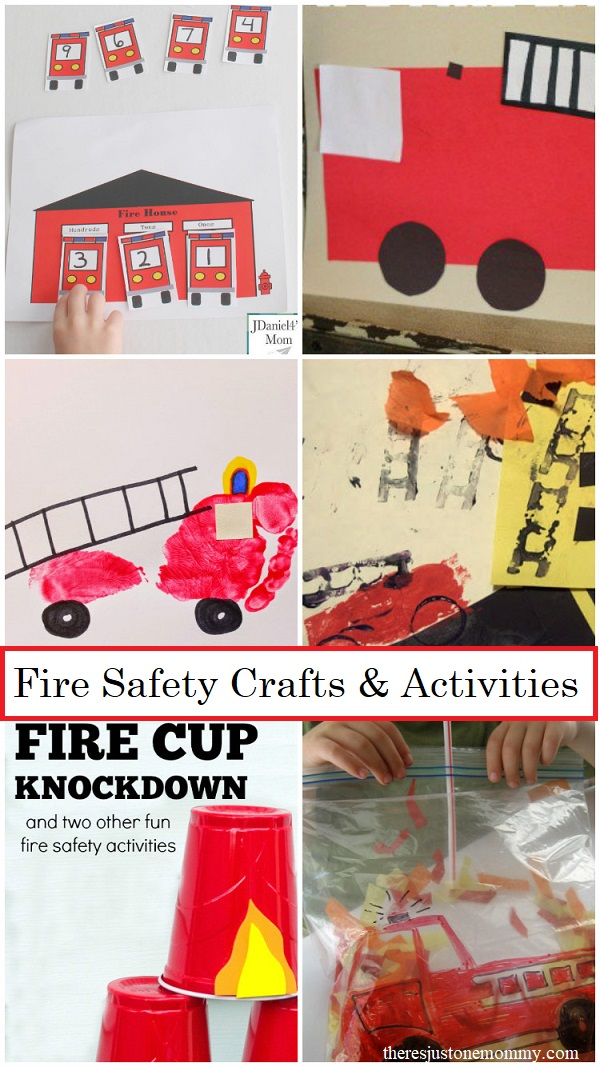fire safety week crafts and activities -- fire truck crafts and fire safety activities for kids