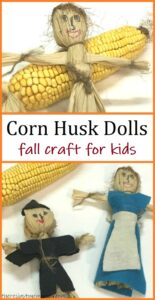 simple directions for making corn husk dolls