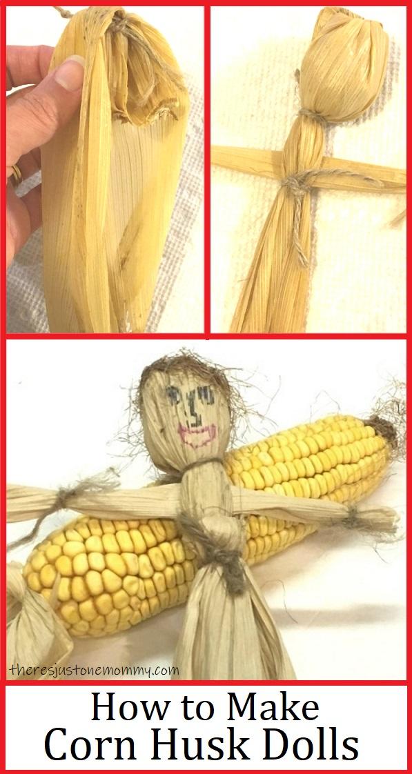 making dolls with corn husks