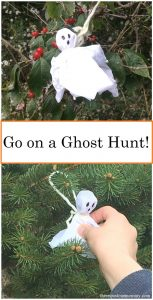 simple kids #Halloween activity -- Go on a candy ghost hunt!