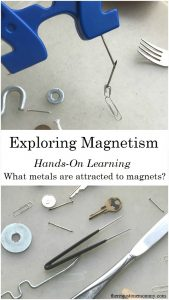 hands on learning: exploring magnets; #handsonlearning
