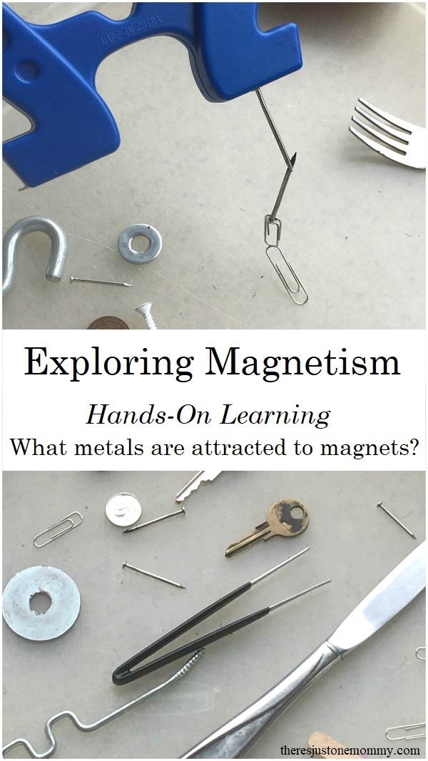 hands on learning: exploring magnets; #handsonlearning