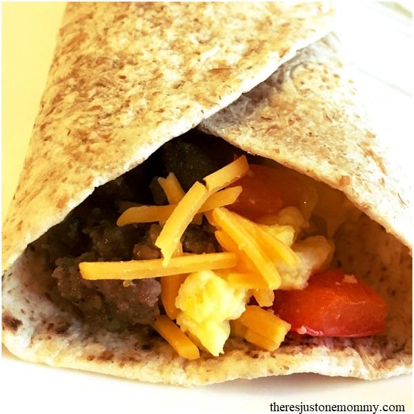 Savory sausage & egg breakfast burrito recipe