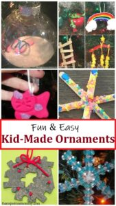 over 25 fun Christmas ornaments kids can make