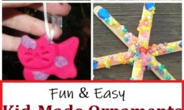over 25 fun Christmas ornaments kids can make