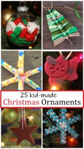 25 fun kid made Christmas ornaments