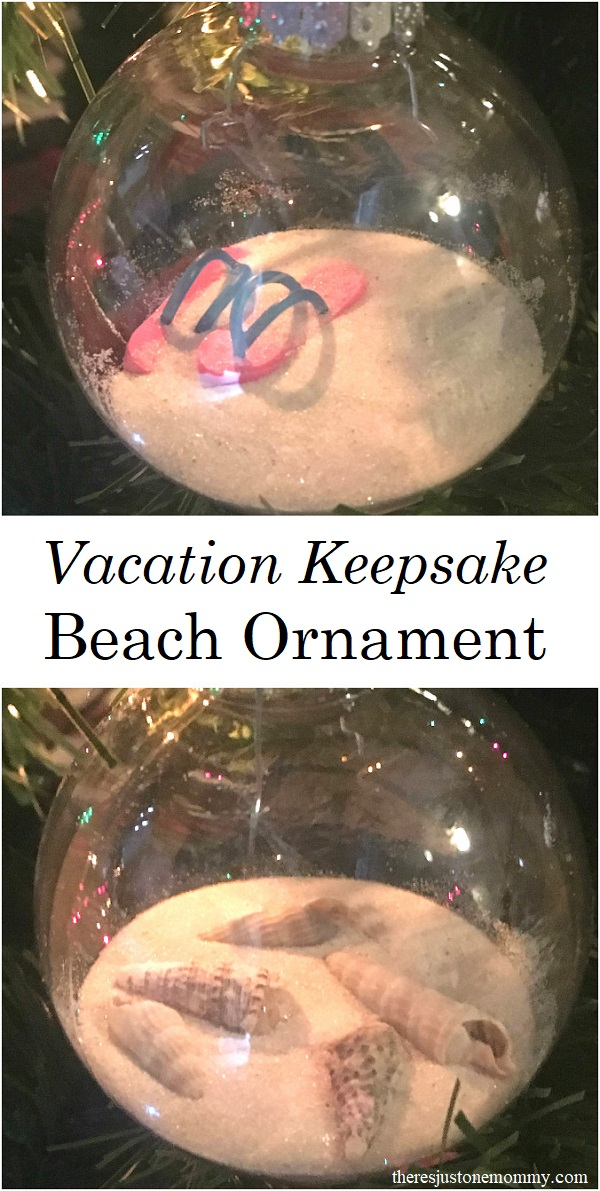 Looking for the perfect vacation keepsake? Make your own beach ornaments and remember those sunny days when the weather is cold. #homemade #ornament #seashell