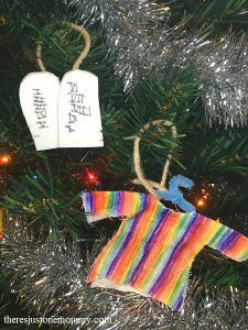 Jesse tree ornaments for Moses and Joseph