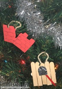 homemade Jesse tree ornaments for Rahab and Joshua