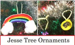 Homemade Jesse Tree Ornaments for Days 1-7