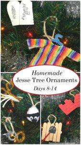 Homemade Jesse tree ornaments