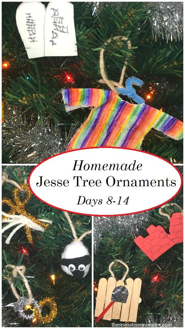 Homemade Jesse tree ornaments