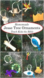 Homemade Jesse Tree Ornaments for Days 15-25