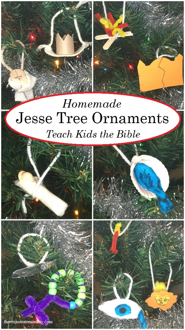 homemade Jesse tree ornaments kids can make -- fun way to teach kids the Bible