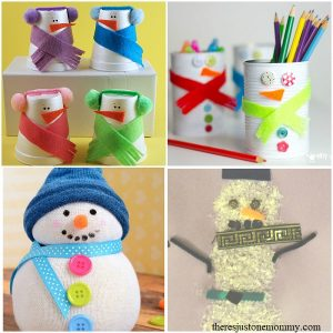 kids snowman crafts