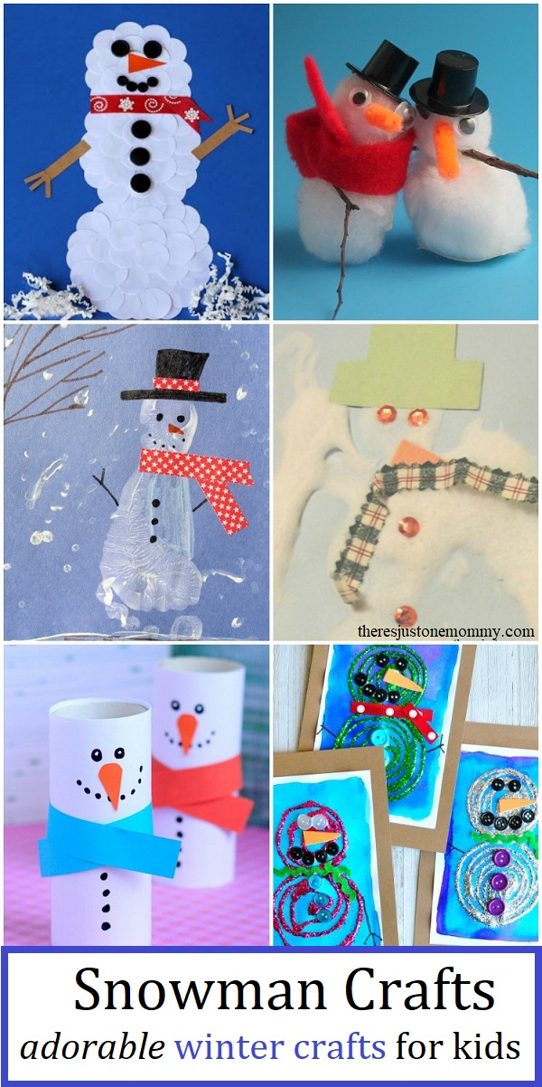 adorable snowman crafts kids will love