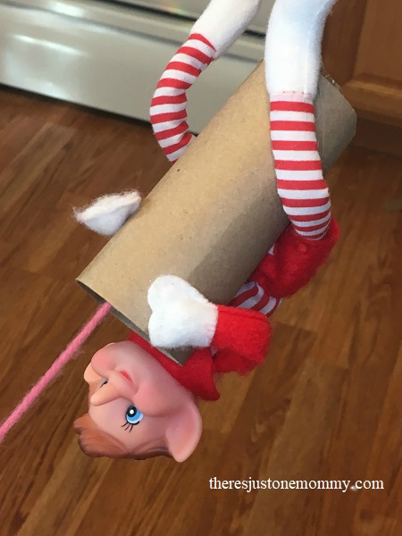 simple Christmas STEM activity with the elf on a shelf