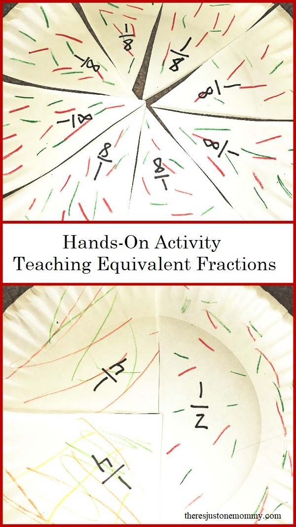 Looking for a fun hands-on math activity to teach fractions? This paper plate fractions activity is perfect for teaching equivalent fractions and how to add fractions with like denominators.